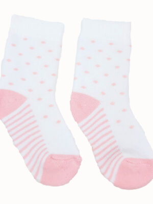 шкарпетки рожево-білі з фігурами TU