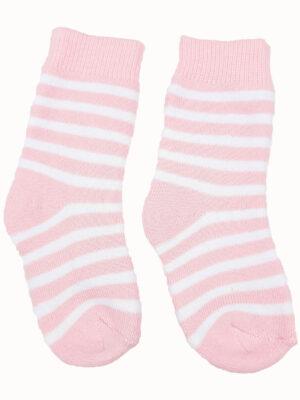 шкарпетки в рожеву та білу смужку TU