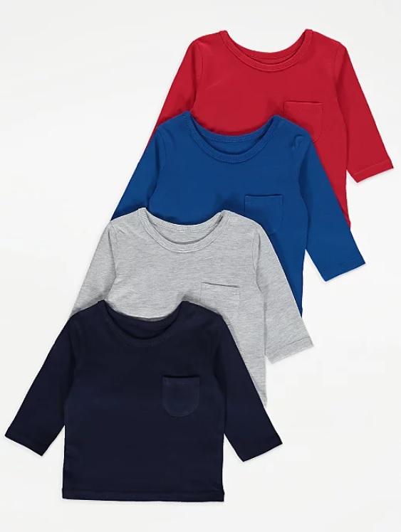 Набір регланів сірого синього та червоного George