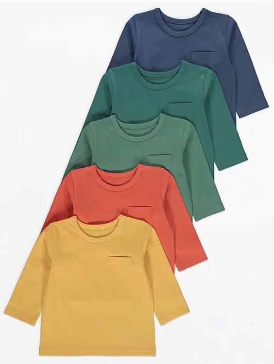 Набір регланів жовтий помаранчевий зелені та синій George