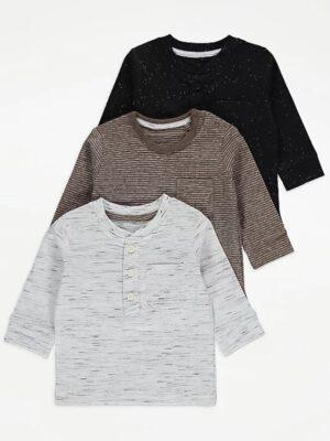 Набір з чорного сірого та коричневого реглану George