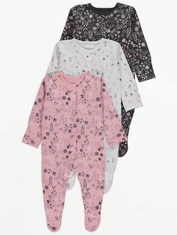Набір чоловічків рожевого біло та чорного кольору з квітами George