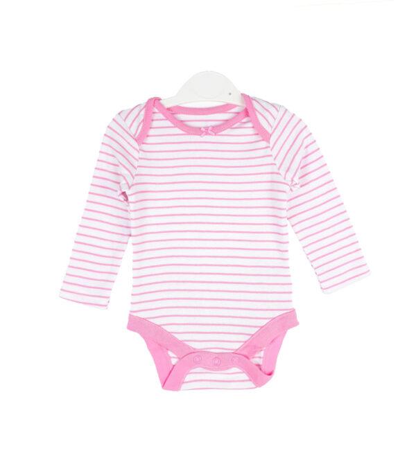боді білий в рожеву смужку з бантиком Dunnes Stores