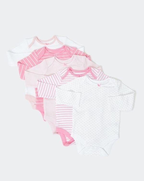 набір боді рожево-білі тона Dunnes Stores