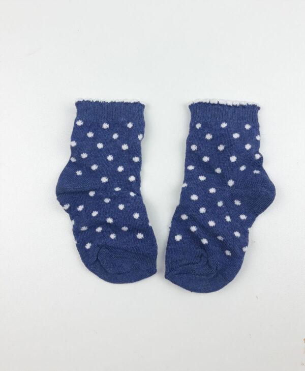 Шкарпетки сині в білий кружечок George
