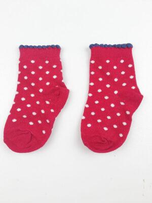 Шкарпетки червоні з синім кружечком George