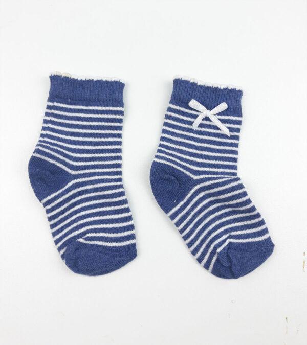 Шкарпетки синьо-білі смужки George