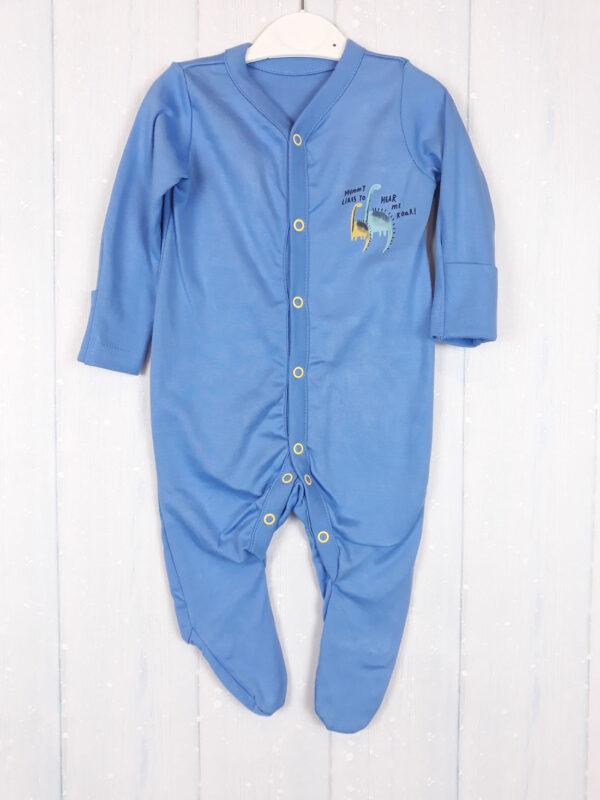 Чоловічок синій з динозаврами mothercare