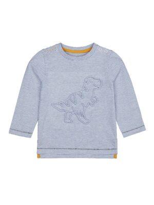 реглан з білими та блакитними смужками з динозавром mothercare