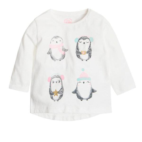 Реглан білий з пінгвінами Cool CLub