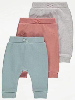 Набір штанів сірого рожевого зеленого кольору George