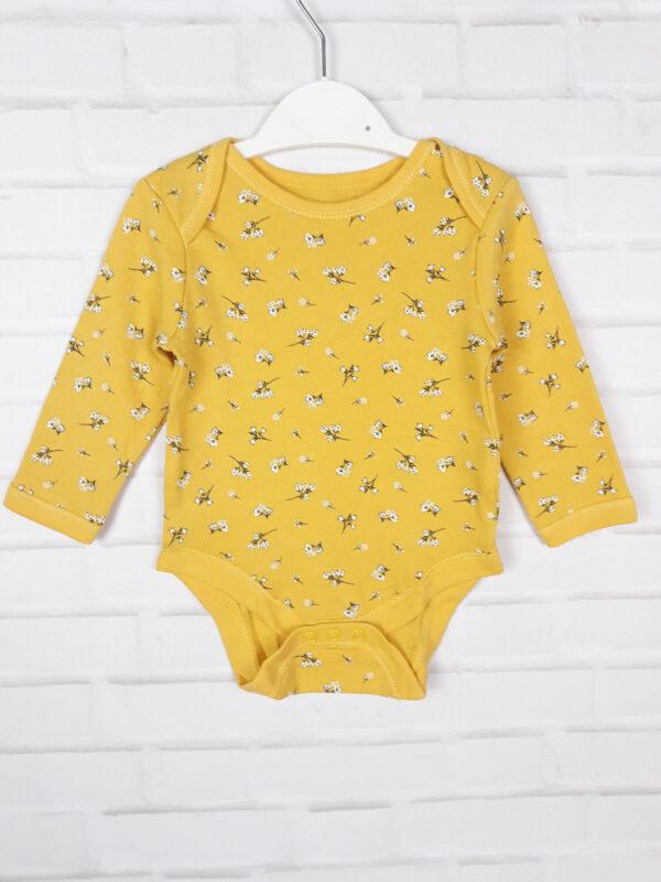 Боді жовтий з квітами Primark