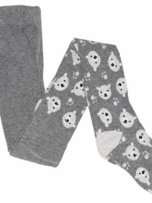 колготы серого цвета с белыми мишками цвета Cool Club