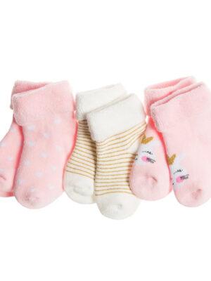Шкарпетки з трех пар рожеві Cool Club