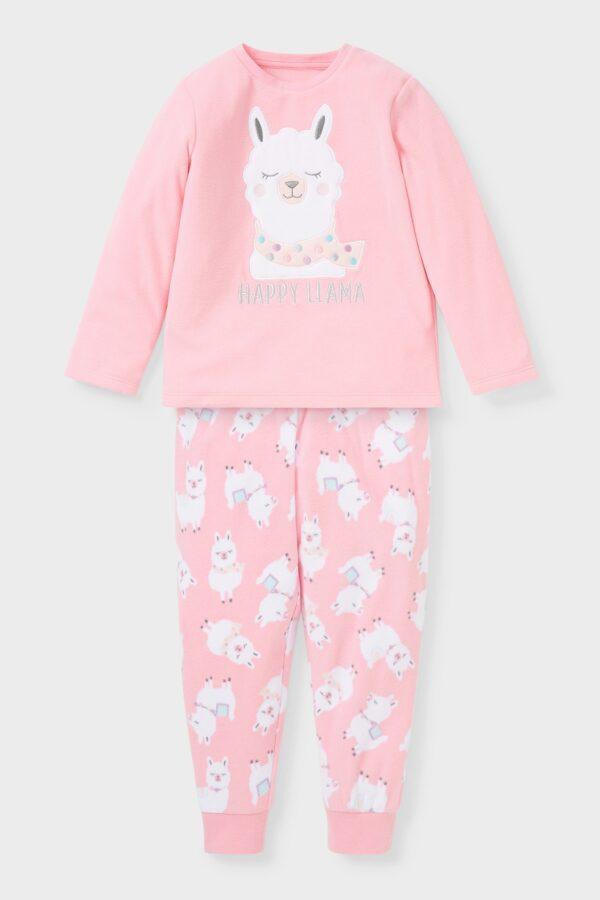 Пижама розовая с ламой C&A