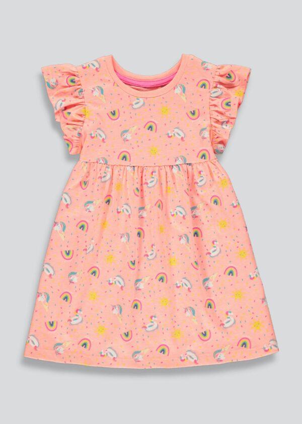 Платье с утками и радугой Matalan
