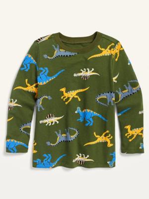 Реглан с динозаврами зеленый Old navy