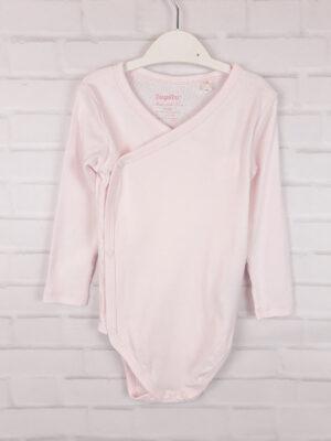 Боді блідо-рожевий з застібками на боці Lupilu