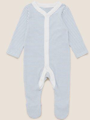 Человечек бело-синие полоски M&S