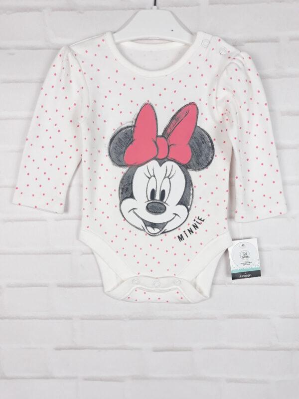 боді білий з Minnie Disney George