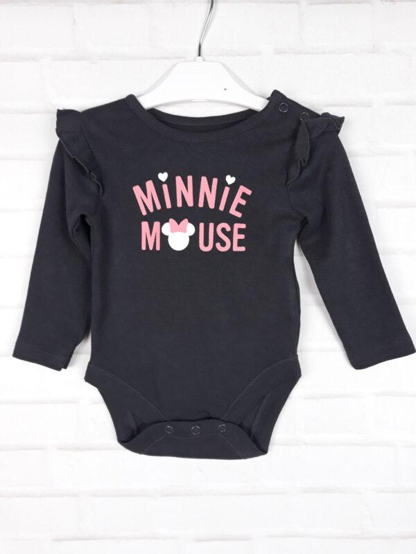 боді чорний з рожевим написом Disney George