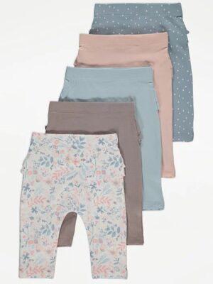 Набір штанів однокольорових та з квітами George